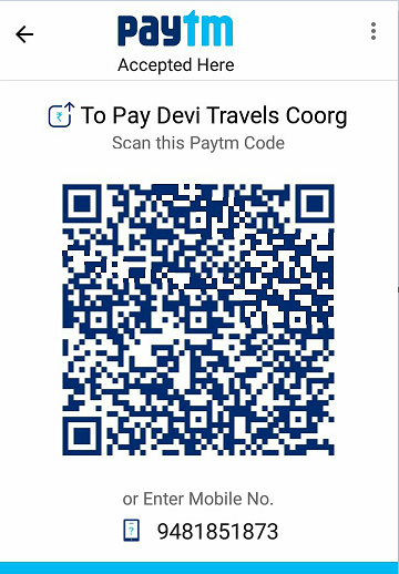Paytm Taxi Coorg